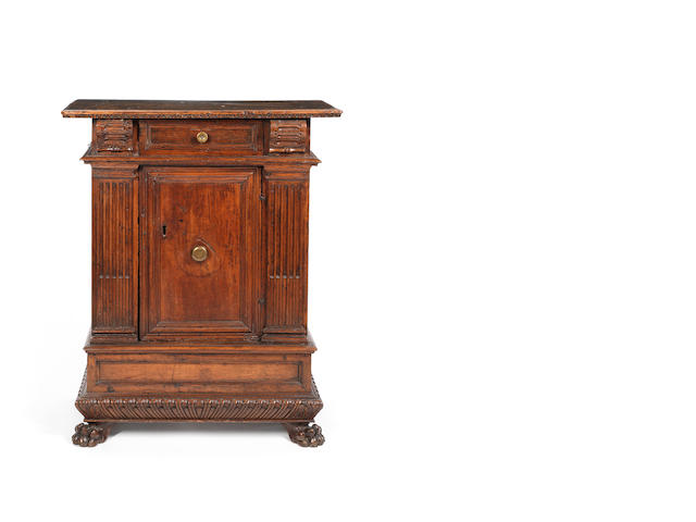 An Italian 16th century walnut cabinet probably Bologna