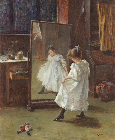 Charles Martin Hardie (British, 1858-1916) The studio mirror