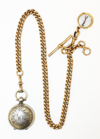 A gold watch chain, (3)