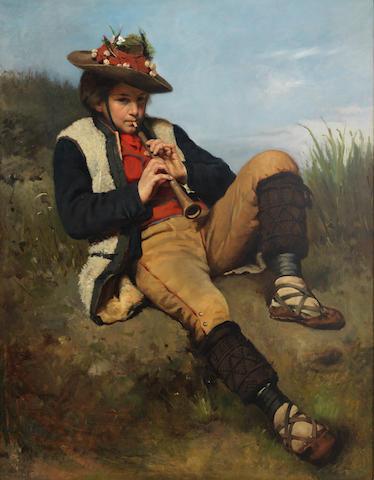 Tadeusz Ajdukiewicz (Polish, 1852-1916) The shepherd boy
