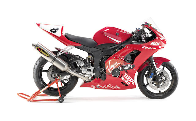 Ex-Tommy Hill,2003  Virgin Mobile Yamaha  R6 Cup Racing Motorcycle