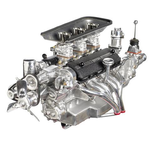 A model Ferrari 250 SWB V12 engine by Terzo Dalia,