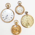 An 18 carat gold fob watch W.E. Birmingham, 1900,