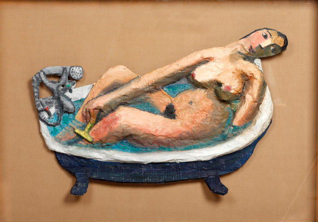 "Anita Klein (British, born 1960) ""Shaving my Legs"" overall"