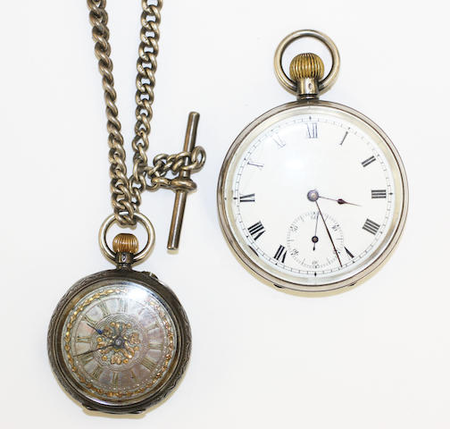 A gentleman's silver open face pocket watch import marks, London 1911