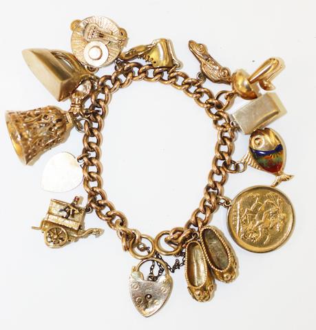 A charm bracelet,