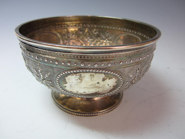 A Victorian circular silver bowl by Robert Harper, London 1874