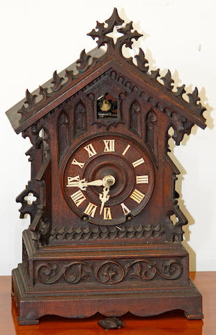 A mid 19th Century Black Forest cuckoo clock attributed to Johann Beha,