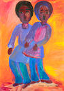 Gladys Mgudlandlu (South African, 1917-1979) Two girls