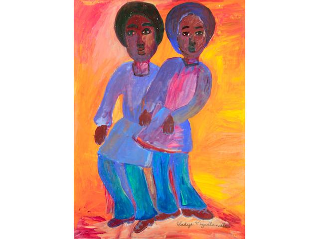 Gladys Mgudlandlu (South African, 1917-1979) Two girls