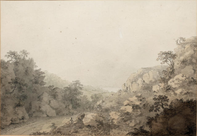 Paul Sandby, RA (British, 1730-1809) Skiddaw and part of Derwentwater seen from the Borrowdale road near the slate mine