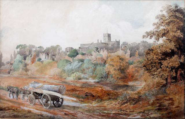 Cornelius Varley (British, 1781-1873) St. Albans 'St. Albans'