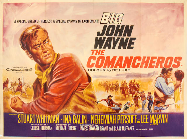 John Wayne: A collection of eight posters, titles including: 8