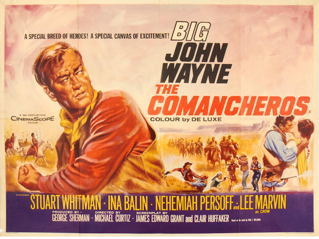 John Wayne: A collection of eight posters, titles including:8