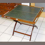 A Thornhill & Co. mahogany folding card table,