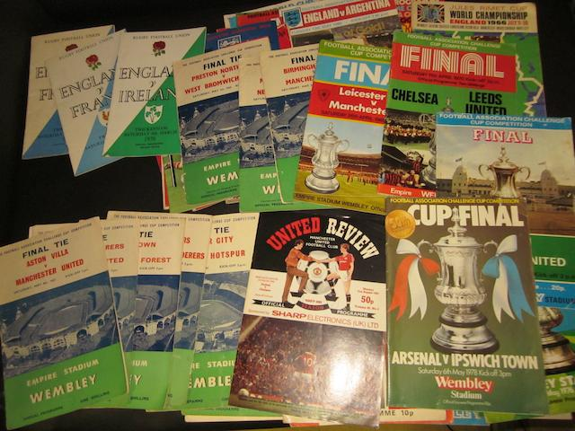 A collection of assorted programmes.