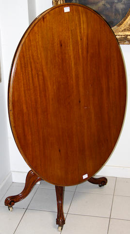 A Victorian walnut loo table