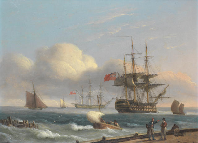 Thomas Luny (British, 1759-1837) Coastal scene