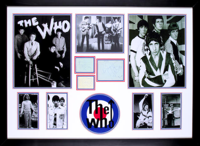 Autographs of The Who, 1960s,