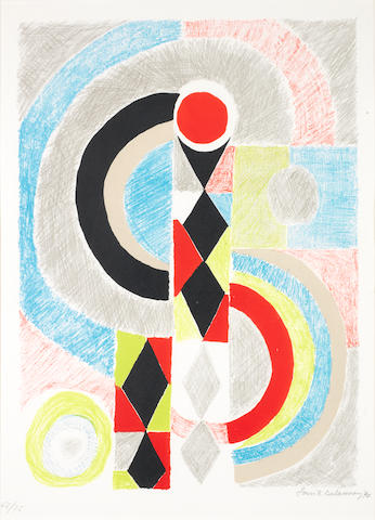 Sonia Delaunay (French, 1885-1979) Totem Lithograph printed in colours, 1970, on wove, signed, dated and numbered 65/75, published La nouvelle gravure, Paris, with margins, 597 x 527mm (23 1/2 x 20 3/4in) (I)