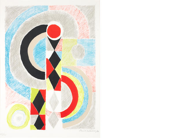 Sonia Delaunay (French, 1885-1979) Totem Lithograph printed in colours, , on wove, signed and