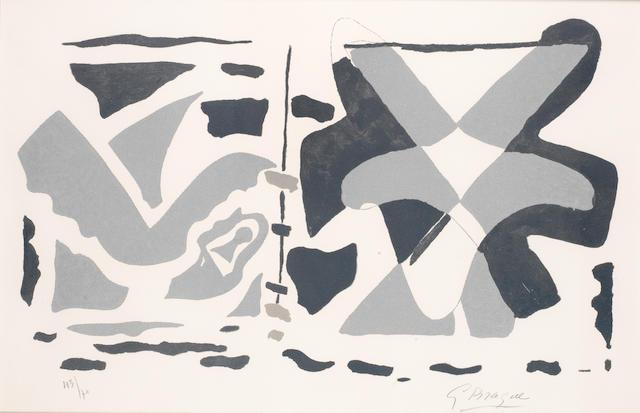 Braque- Doppelseite (Schutzblatt) aus: Si je mourais là-bas
