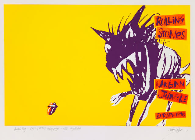 The Rolling Stones: a rare, original printers proof for the 'Urban Jungle' tour programme, 1990,