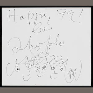 John Lennon & Yoko Ono: an autographed New Year card and related material