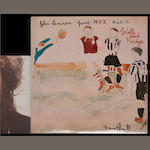 An autographed copy of John Lennon's album 'Walls And Bridges',