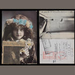 John Lennon and Yoko Ono: A postcard sent from Japan to friends in NY,