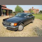 1990 Mercedes-Benz 420SEC Coupé   Chassis no. WDB1260462A500438 Engine no. 074863