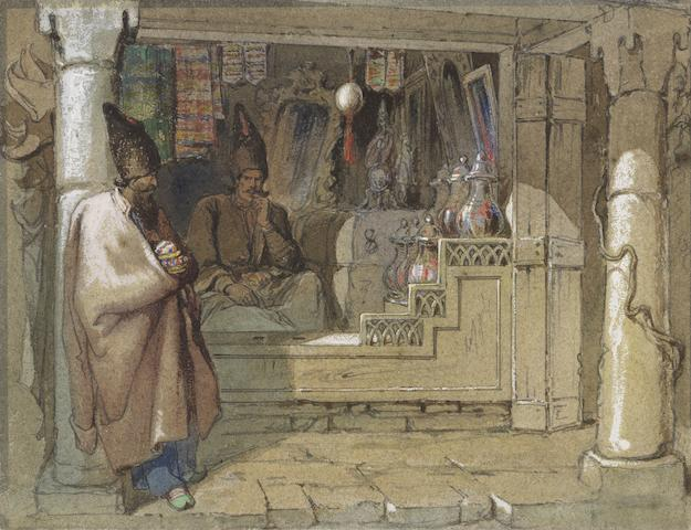 Vittorio Amadeo Preziosi (Maltese, 1816-1882) The spice sellers unframed