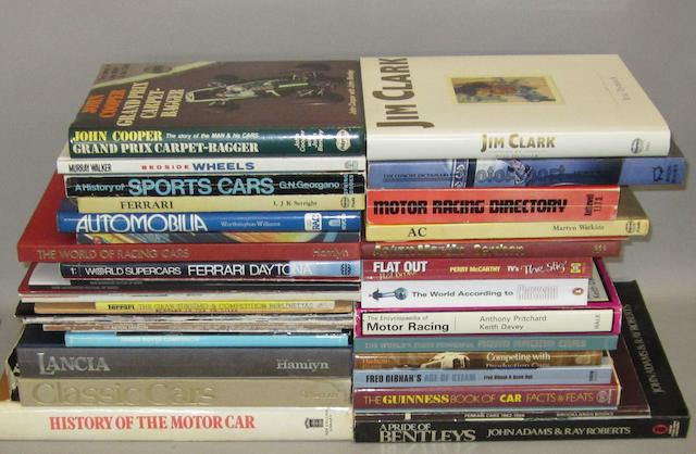 A quantity of motoring books and ephemera,
