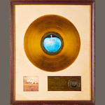 A 'Gold' sale award for the album 'Mind Games' by John Lennon,