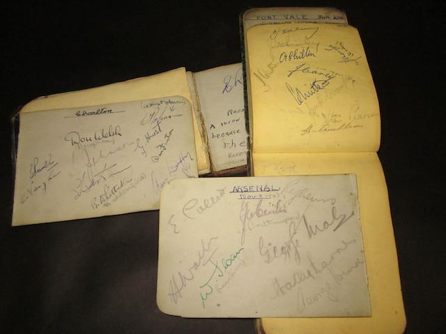 1947/48 football teams autographs