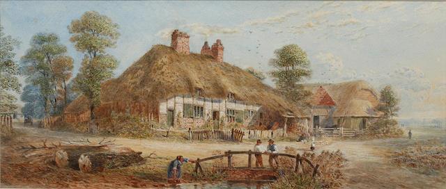 Walter Paris (American, 1842-1906) A Sussex Farm 1890