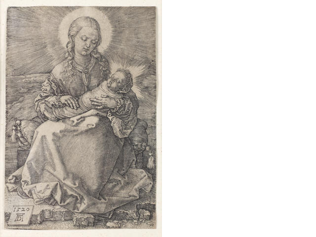 Albrecht Dürer (German, 1471-1528) Virgin with the swaddled infant Engraving, 1520, on laid, trimmed just inside platemark, 143 x 96mm (5 1/2 x 3 7/8in)(PL)