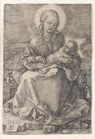 Albrecht Dürer (German, 1471-1528) Virgin with the swaddled infant Engraving, 1520, on laid, trimmed just inside platemark, 143 x 96mm (5 1/2 x 3 7/8in)(PL)
