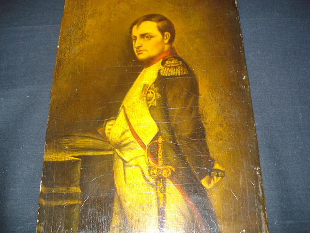 19th Century French school Napoleon, standing in a commanding pose