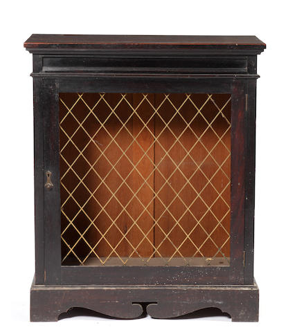 A 19th Century ebonised padouk dwarf side cabinetPossibly Anglo-Indian