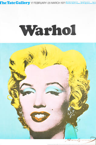 Andy Warhol (American, 1928-1987) Marilyn Offset lithograph printed in colours, 1971, on thin wove, signed in black ink, from an edition of 500, published by Tate Gallery, London, with full margins, 750 x 500mm (29 1/2 x 19 5/8in) (SH)