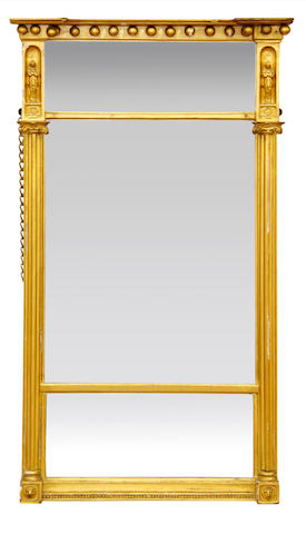 A George IV  giltwood overmantel mirror