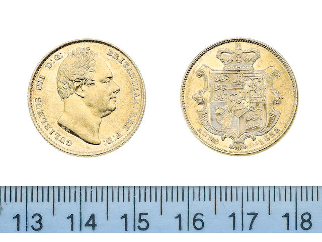 William IV, Sovereign, 1833, second bust right,