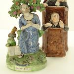 Two polychrome Wood type Staffordshire figures Early 19th century