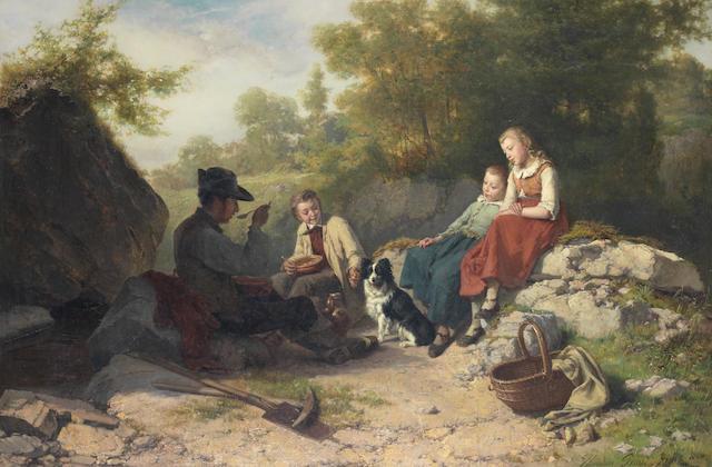 Théodore Gérard (Belgian, 1829-1895) The midday break