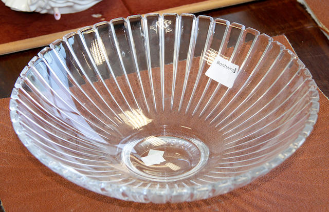 A Tiffany and Co glass bowl