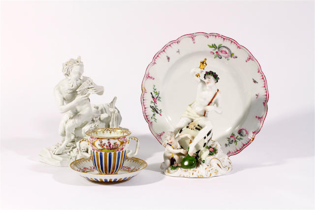 A group of 19th century continental porcelain,