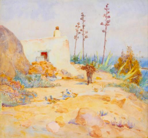 Constance Penstone (South African, 1865-1963) Van Riebeeck's blockhouse
