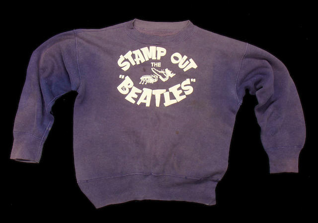 Brian Epstein's 'Stamp Out The Beatles' sweatshirt, 1960s,
