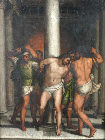 Workshop of Sebastiano del Piombo (Venice circa 1485-1547 Rome) The Flagellation of Christ